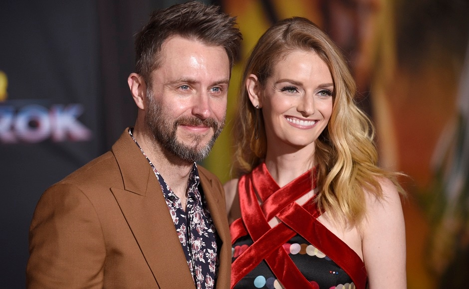 Chris Hardwick (left), and Lydia Hearst were also present. Photo courtesy: AP/Chris Pizzello