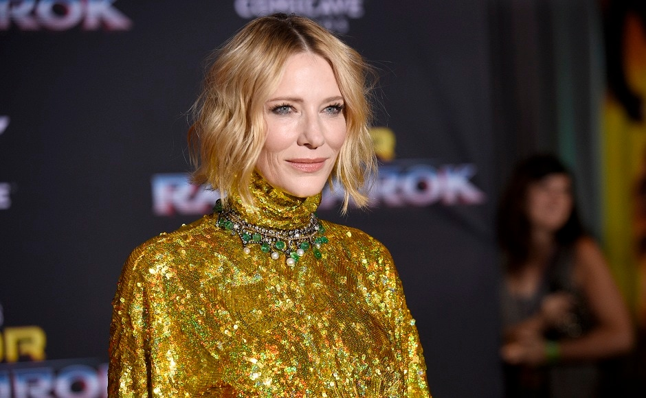 Cate Blanchett at the world premiere of Thor: Ragnarok at the El Capitan Theatre, Los Angeles. Photo courtesy: AP/Chris Pizzello