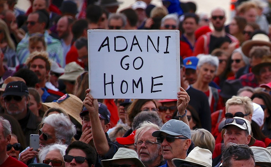 The 'Stop Adani' movement organised 45 protests across Australia on Saturday against Indian mining giant Adani Enterprises' proposed Carmichael coal mine. Reuters