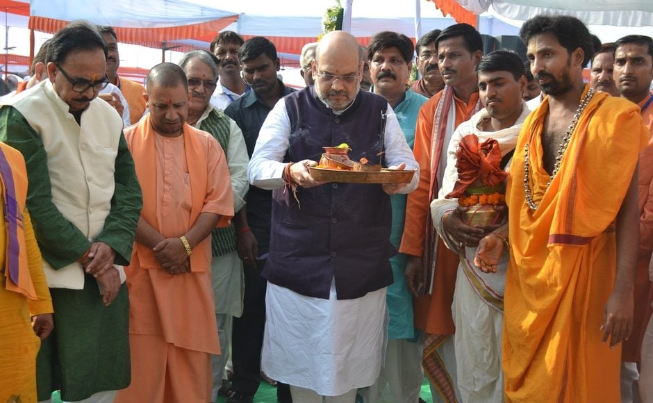 BJP leaders also inaugurated and laid foundation for 21 new development projects in Amethi in a bid to send out a signal to counter the accusations of