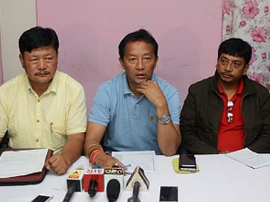 File image of Binay Tamang (centre). Getty Images