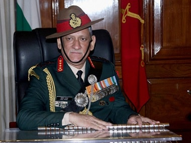 File image of Indian Army chief General Bipin Rawat. PTI