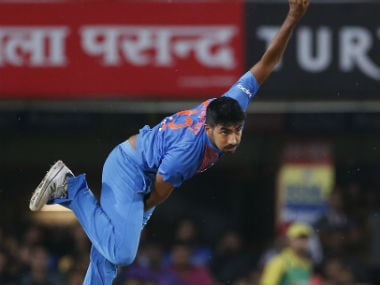 Jasprit Bumrah finished as the leading Indian wicket-taker in the T20I series against Australia. AP