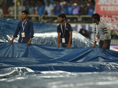 First T20I between India and Australia was truncated due to rain. AFP