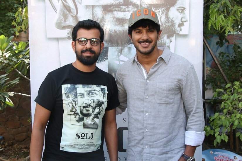 Bejoy Nambiar with his 'Solo' star Dulquer Salmaan
