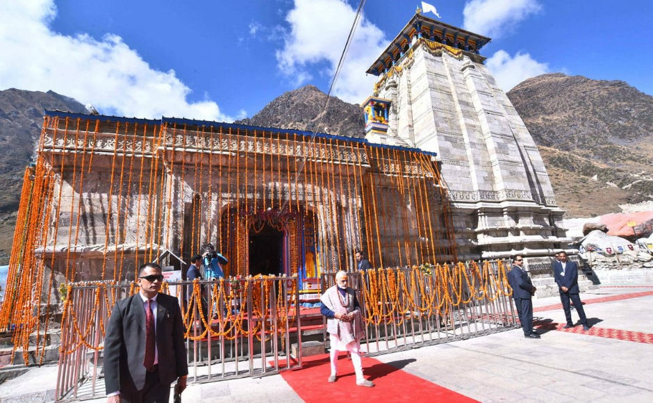 In his second visit to Kedarnath in 2017, Prime Minister Narendra Modi on Friday reached the shrine ahead of its closure for the next six months. Twitter/@PMOIndia