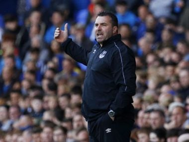 """Britain Soccer Football - Everton v Norwich City - Barclays Premier League - Goodison Park - 15/5/16 Everton caretaker manager David Unsworth Action Images via Reuters / Craig Brough Livepic EDITORIAL USE ONLY. No use with unauthorized audio, video, data, fixture lists, club/league logos or """"live"""" services. Online in-match use limited to 45 images, no video emulation. No use in betting, games or single club/league/player publications.  Please contact your account representative for further details. - 14383357"""