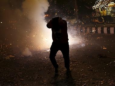 Diwali firecracker noise smoke pollution Reuters 380
