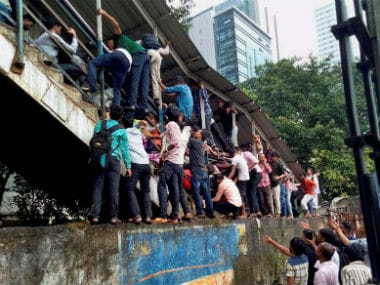 File image of Elphinstone Road station where a stampede took place on Friday. PTI