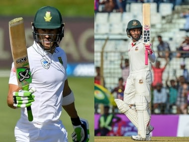 South Africa's Faf Du Plessis and Bangladesh's Mushfiqur Rahim. Agencies