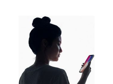 iPhone X comes with a Face ID feature.