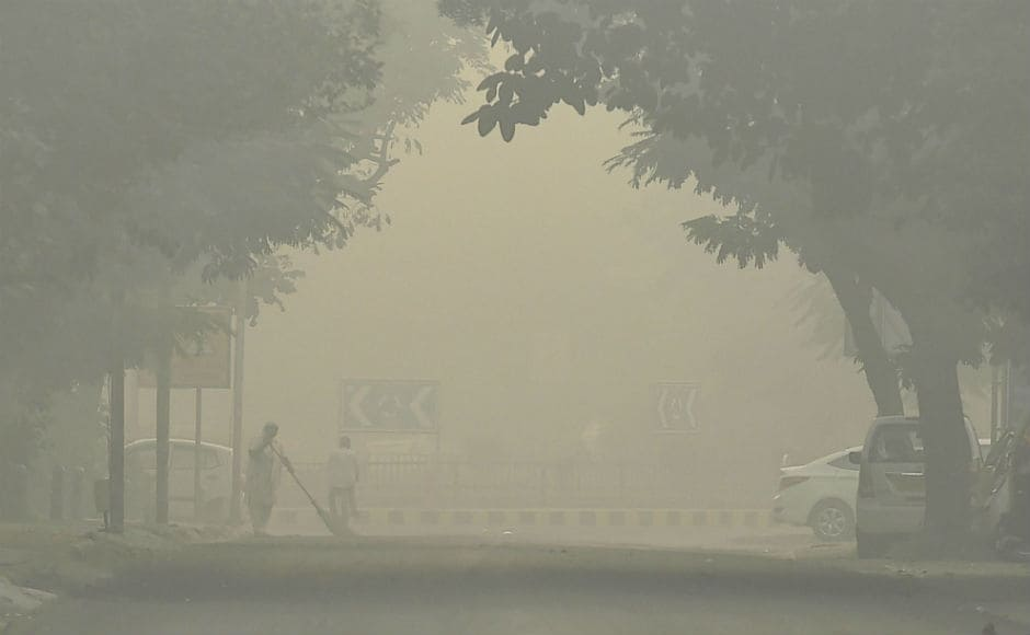 The city's air witnessed a rise in the air pollutant level with Average Air Quality Index (AQI) being 411 at 9 am on Tuesday morning. Visiblity dropped to 200 meters, resulting in slow traffic. PTI