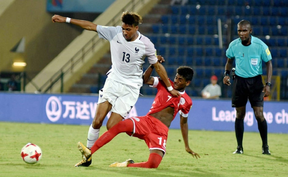 France ran out even bigger winners, scoring seven past New Caledonia, though the World Cup debutants got one back. PTI