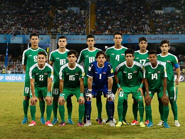Iraq pose for photograph before the start of their match. Getty Images