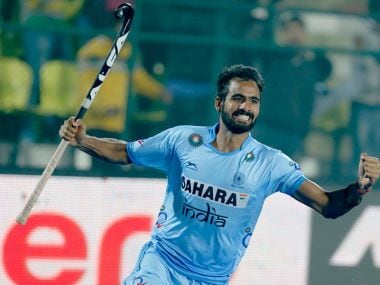 Gurjant Singh had another good game for India scoring the fourth goal against Pakistan. Twitter @TheHockeyIndia