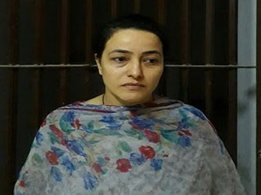 File image of Honeypreet Insan. Twitter @CNNNews18