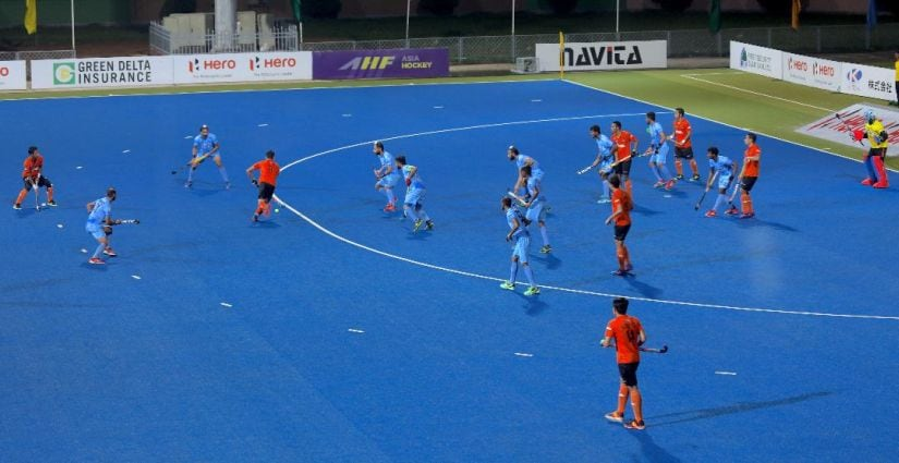 Not only were India brilliant in attack, their players also defended in numbers. Image courtesy: Neeraj Tiwari