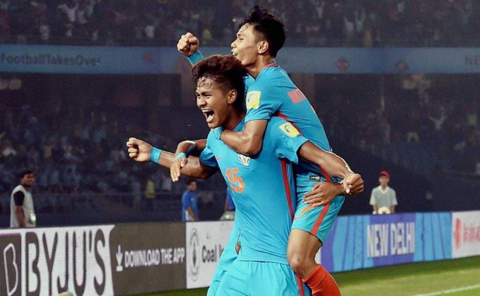 Jeakson Singh scored India's first-ever World Cup goal in any age group category on Monday. PTI