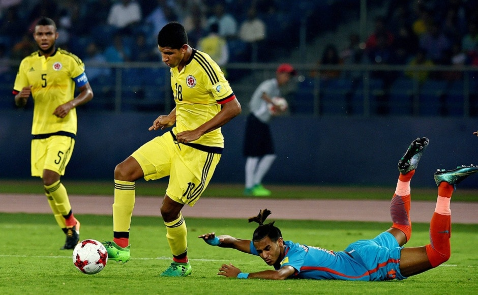 But it was not to be, as Colombia broke Indian hearts with a winner just seconds after Thounaojam's goal. PTI