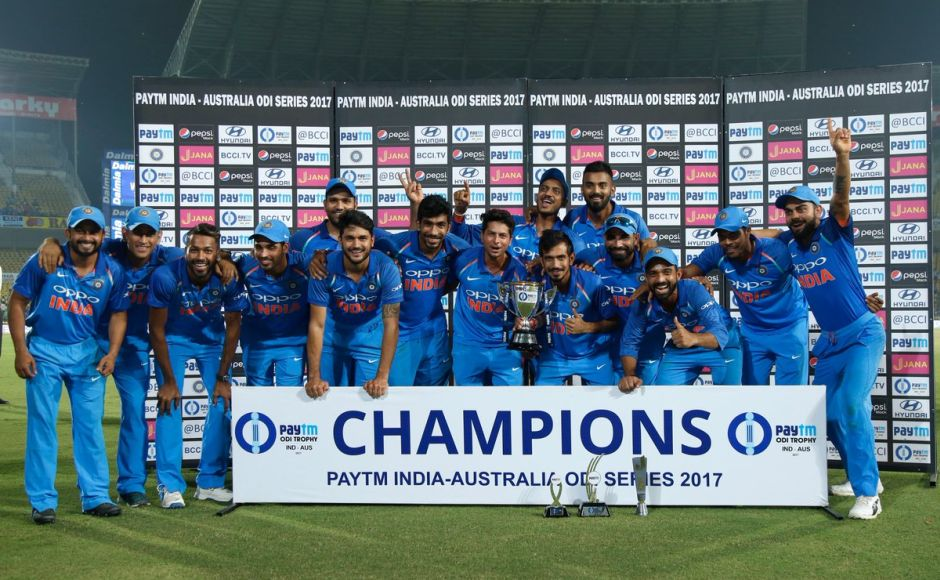 India beat Australia by seven wickets in the fifth ODI at Nagpur on Sunday. With the win, India completed a 4-1 series victory. Twitter @BCCI