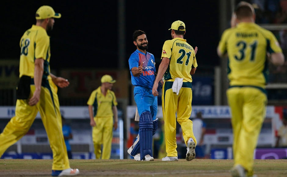 India continued their dominance in the series and registered a comfortable 9-wicket victory over Australia in the first T20I at Ranchi. AP