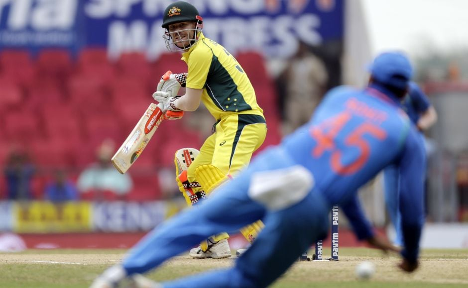 Opting to bat after winning the toss, Australia got off to a good start. The 50 run partnership between David Warner and Aaron Finch had come off 49 balls as the duo made good on their form. AP