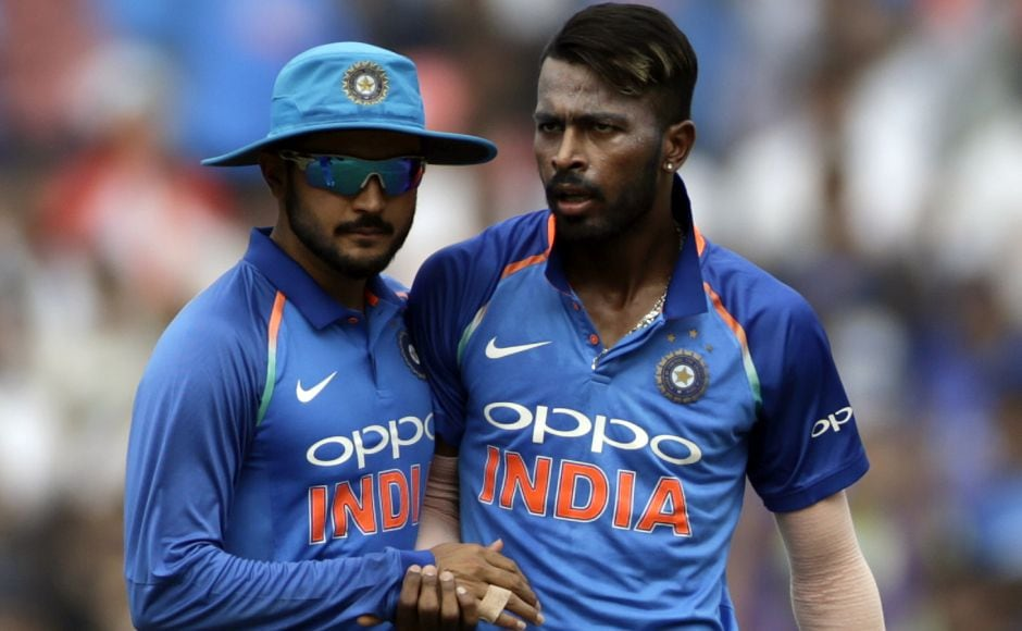Finch couldn't go on as Hardik Pandya (in picture) broke the partnership in the 12th over. Jasprit Bumrah made a catch at mid off look very easy to hold on as Finch had to walk back. AP