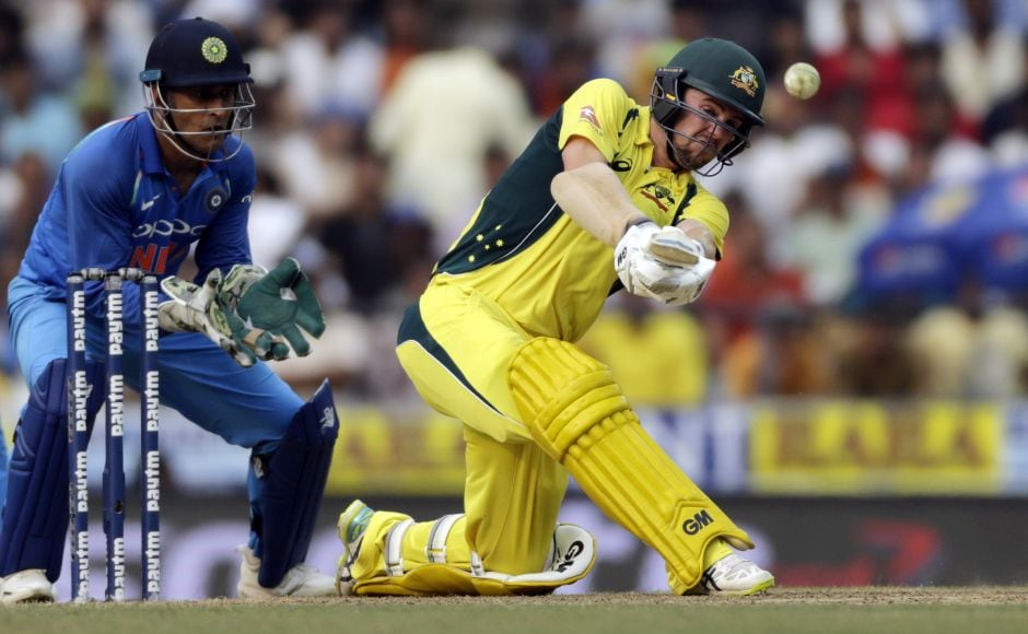 Australia could have been in deeper trouble still but an 87-run partnership between Travis Head (R) and Marcus Stoinis for the fifth wicket saved them. The duo batted with patience to counter India's spin attack and put on 50 runs in 64 balls to move the score along. AP
