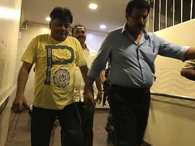 File image of Iqbal Kaskar being arrested on 18 September from Thane. Image procured by Sanjay Sawant