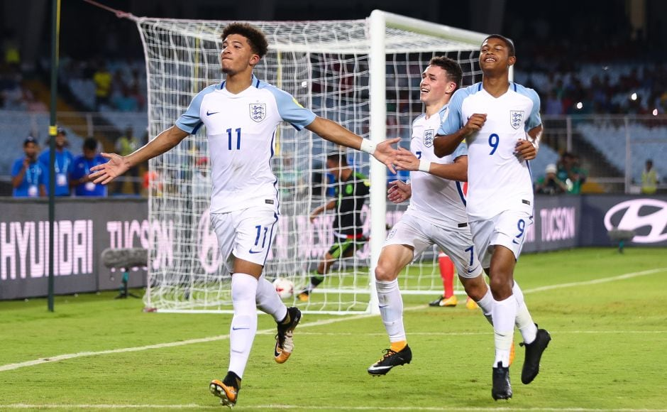 Borussia Dortmund forward Jadon Sancho gave England a 3-0 lead after converting from the pnelaty spot in the second half. GettyImages