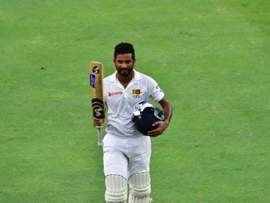 Dimuth Karunaratne missed a double hundred by four runs but lifted Sri Lanka to an imposing 482 in their first innings. Twitter @ICC