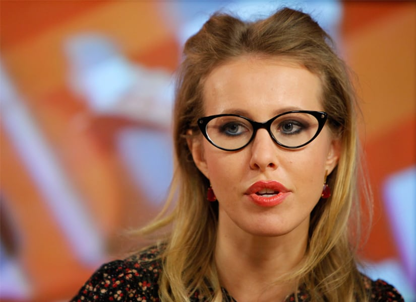 Russian socialite Ksenia Sobchak announced her candidacy for the office of the president on Wednesday. AP