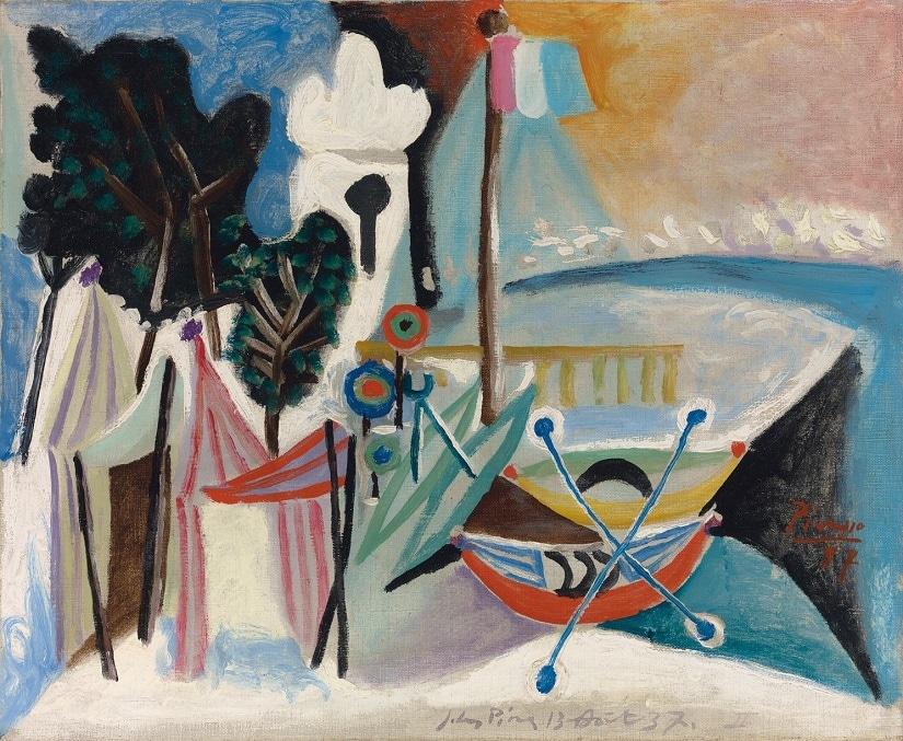 La Plage- Picasso Painting