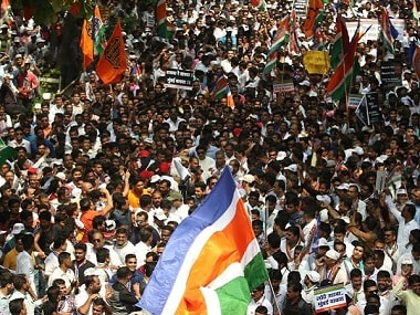 Over 15,000 people attended MNS' rally on Thursday. Firstpost/Sachin Gokhale