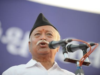 File photo of Mohan Bhagwat. AFP