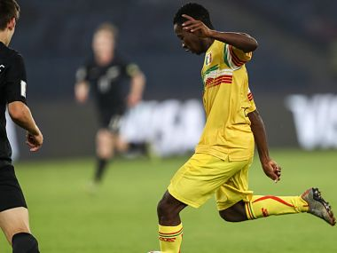 Mali player in action against New Zealand. Image Courtesy: Twitter @FIFAcom