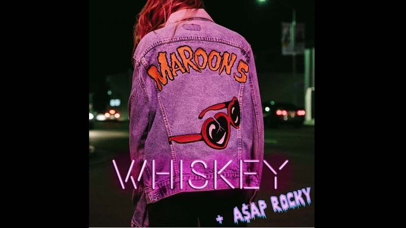 Maroon 5's latest song 'Whiskey' from the album Red Pill Blues. Image via Twitter/ @Maroon5