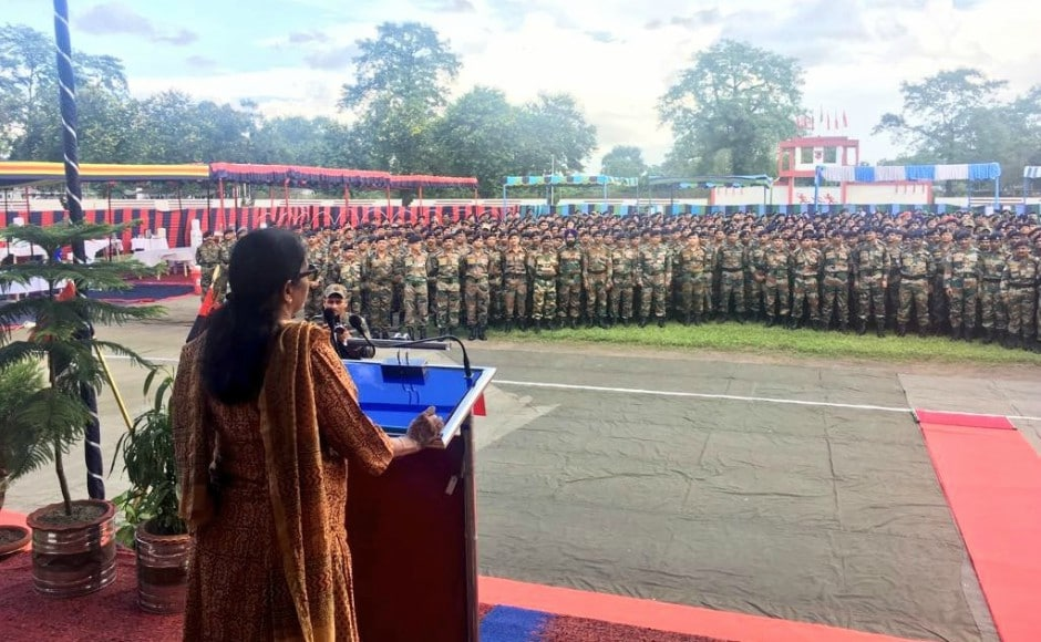 Sitharaman, during her visit to Tezpur, reviewed the formation of Indian Army and IAF. Twitter @DefenceMinIndia