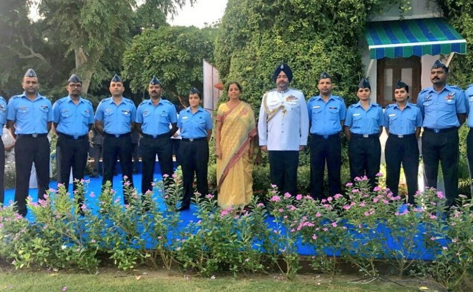 Earlier, Sitharaman, on a day's visit to Sikkim, travelled by road to Nathu La, and interacted with Army and ITBP officials posted there. Twitter @DefenceMinIndia