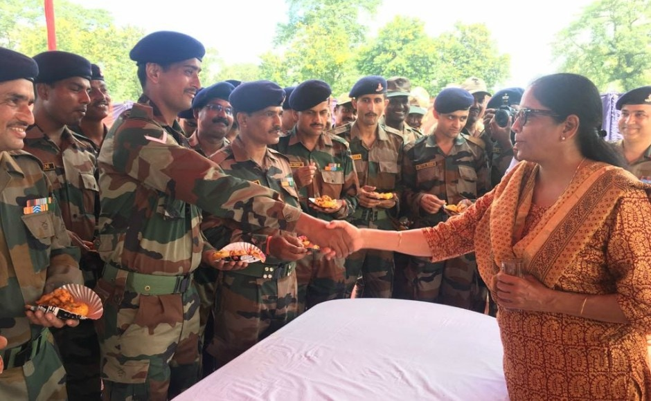 Sitharaman was briefed about the security preparedness along the border in the Sikkim sector by the GOC, Eastern Command Lt Gen Abhay Krishna. Vice-Chief of Army Staff Lt Gen Sarath Chandra was also present at the meeting. Twitter @DefenceMinIndia