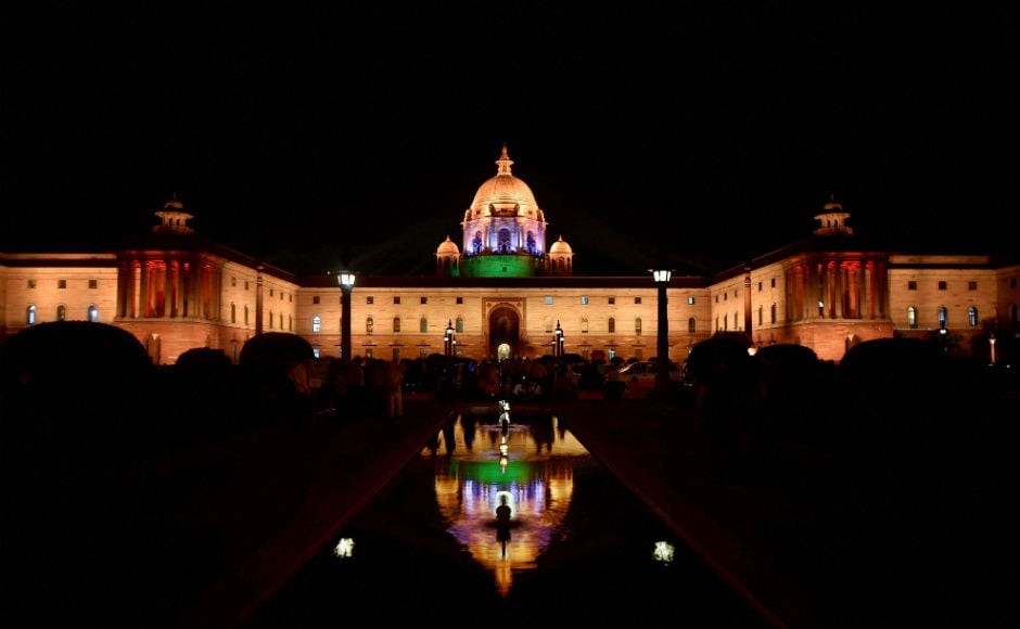 The iconic North and South Block building flanking the Rashtrapati Bhavan in Delhi got a new dynamic lighting system on Wednesday which can display a wide range of themes. PTI