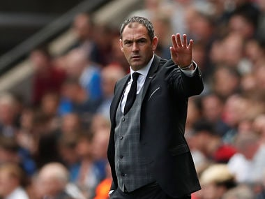 File image of Swansea City manager Paul Clement. Reuters