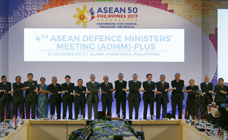 The ASEAN defence ministers began their high-level security dialogue at Clark, Philippines on Monday to discuss security issues, including counter-terrorism, drug trafficking and maritime conflicts, facing the region. AP