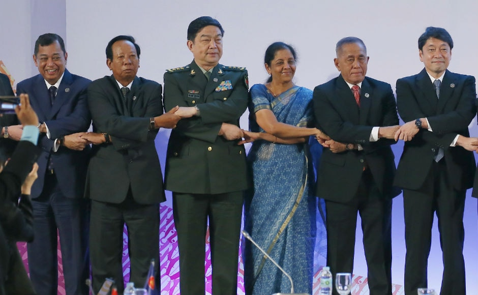 Defence minister Niramala Sitaraman too attended meet. The two-day meeting will discuss ways to enhance defence and security cooperation among the member nations to effectively counter various transnational security challenges facing the region. AP
