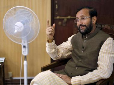 File image of Union HRD minister Prakash Javadekar. Reuters
