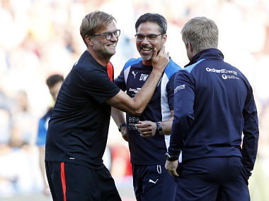 File image of Jurgen Klopp and David Wagner. Reuters