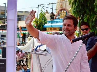 Rahul Gandhi addressing a rally in Karjan, Gujarat. Facebook/INC Gujarat