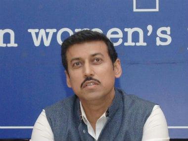 File image of Sports Minister Rajyavardhan Singh Rathore.  Image courtesy: Twitter/@PIB_India