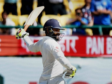 Indian cricketer Ravindra Jadeja smashes six sixes in an over during Inter-district T20 match