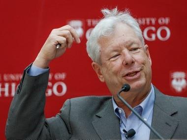 Nobel Prize winner Richard Thaler of the University of Chicago Booth School of Business,
